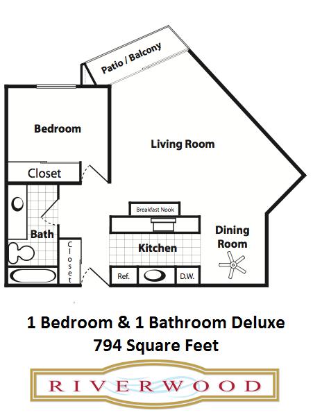 1 Bedroom / 1 Bath Deluxe