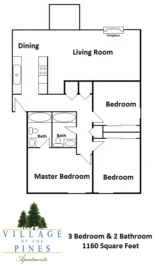 3 Bedroom / 2 Bath