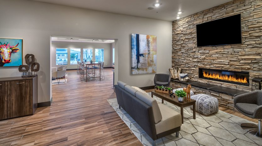 Carson Hills Apartments - Carson City NV - Clubhouse - Den Room & Fireplace