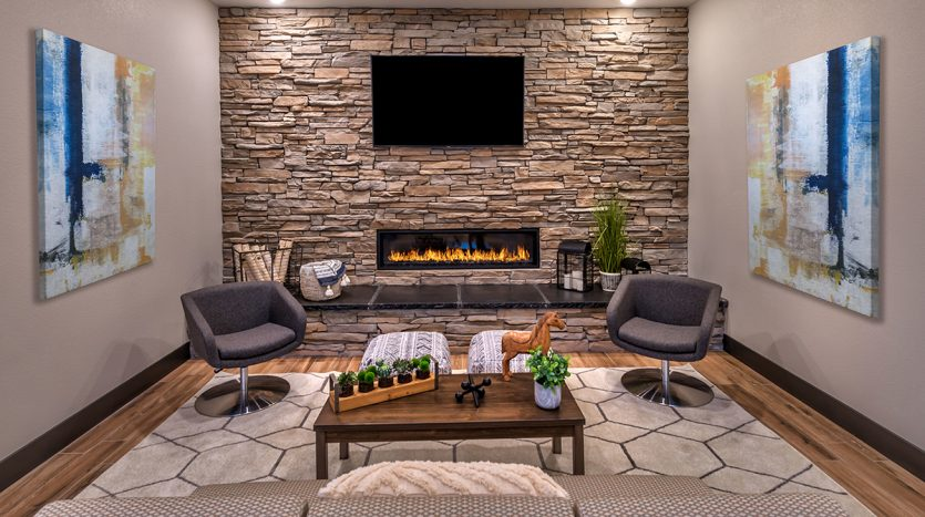 Carson Hills Apartments - Carson City NV - Clubhouse - Fireplace